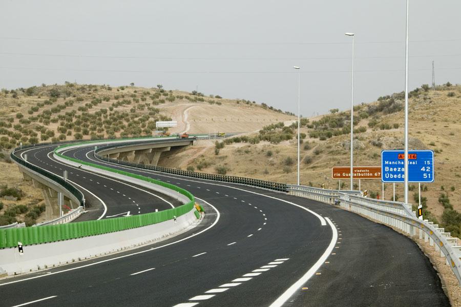 Tramo entre Jaén y la variante de Mancha Real en la Autovía del Olivar.