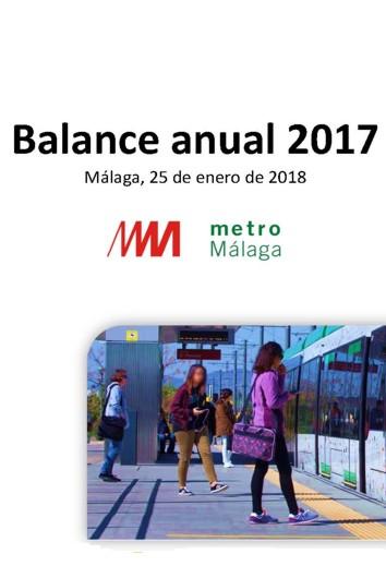 METRO DE MÁLAGA Balance Anual 2017