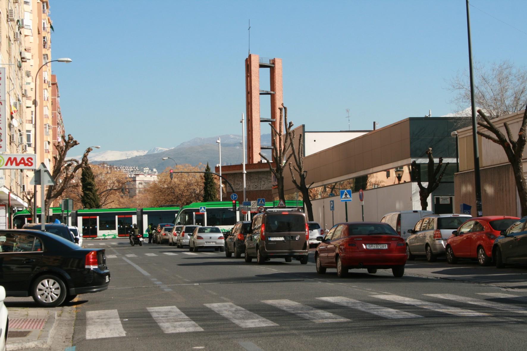 Final de la calle Palencia, que será remodelada gracias a las medidas compensatorias del metro.
