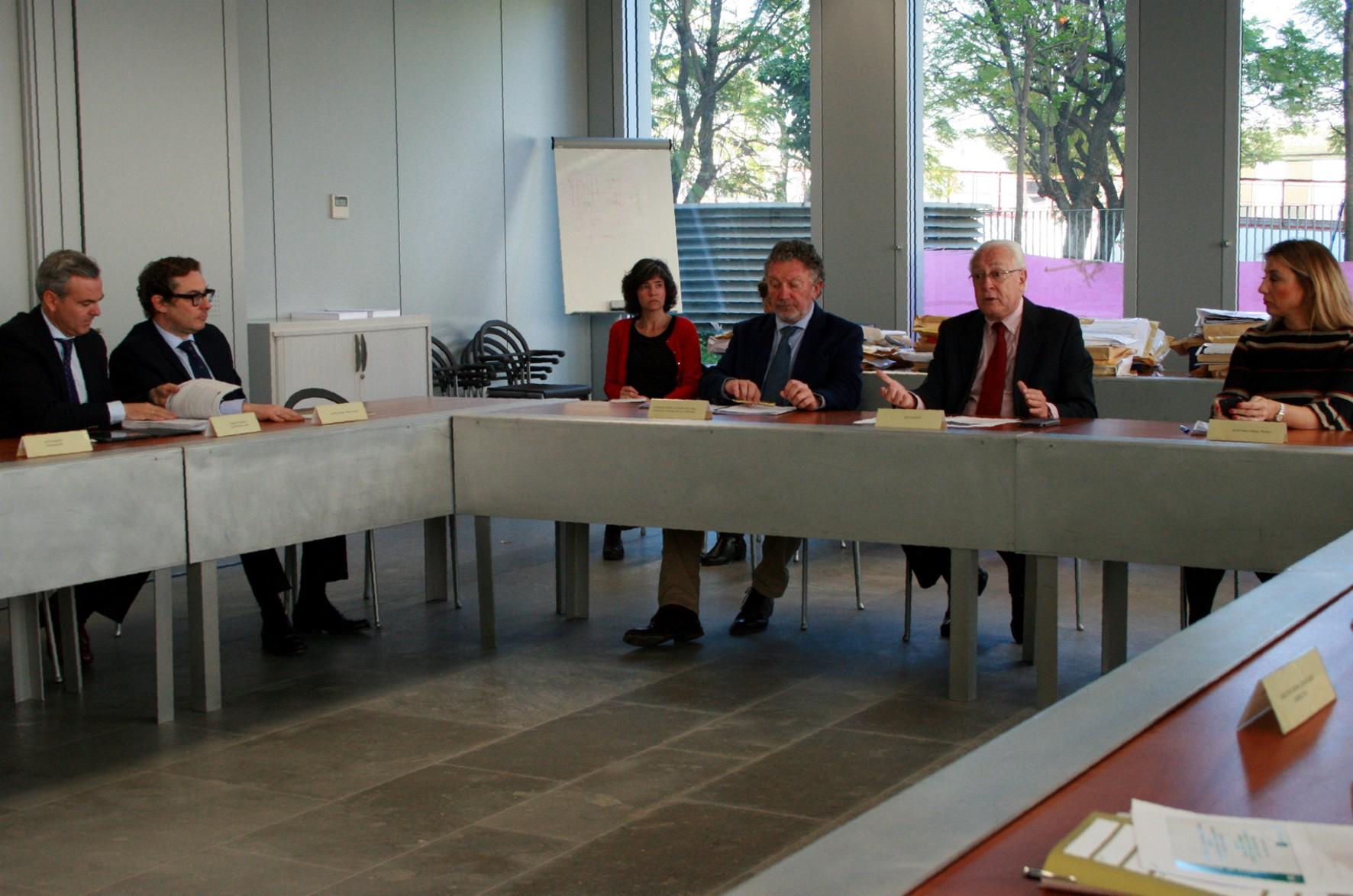 Reunión del grupo BIM en la Consejería de Fomento.