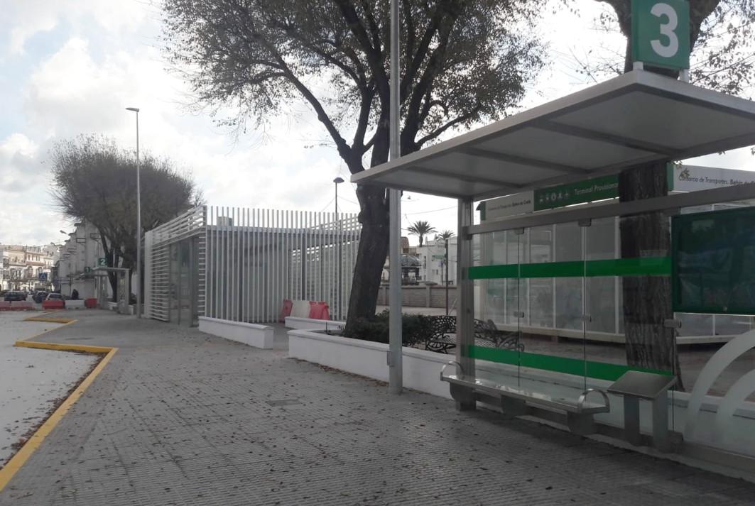 Obra finalizada del futuro apeadero de autobuses de Chiclana.