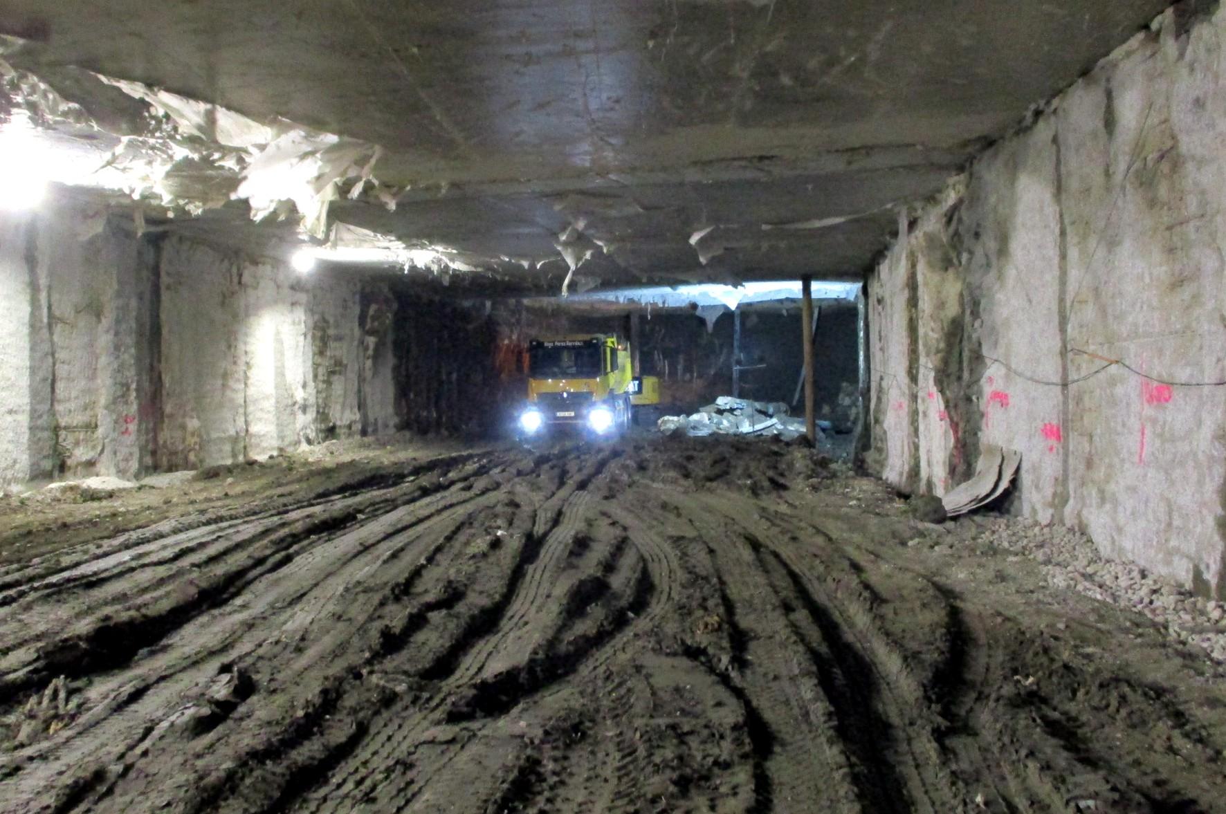 El túnel aparece completo desde Guadalmedina a Atarazanas.
