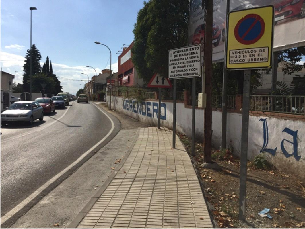 Las obras afectarán al Camino Nuevo de Maracena.
