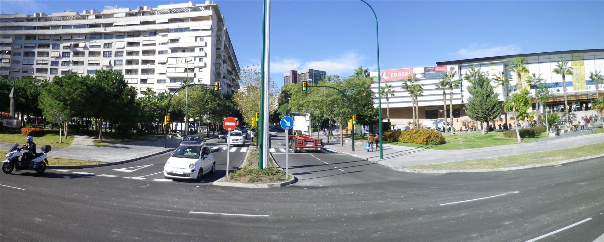 Concluyen las labores de asfaltado del entorno de la Plaza de la Solidaridad y Gabriel Celaya, en el tramo Renfe-Guadalmedina del Metro de M�laga