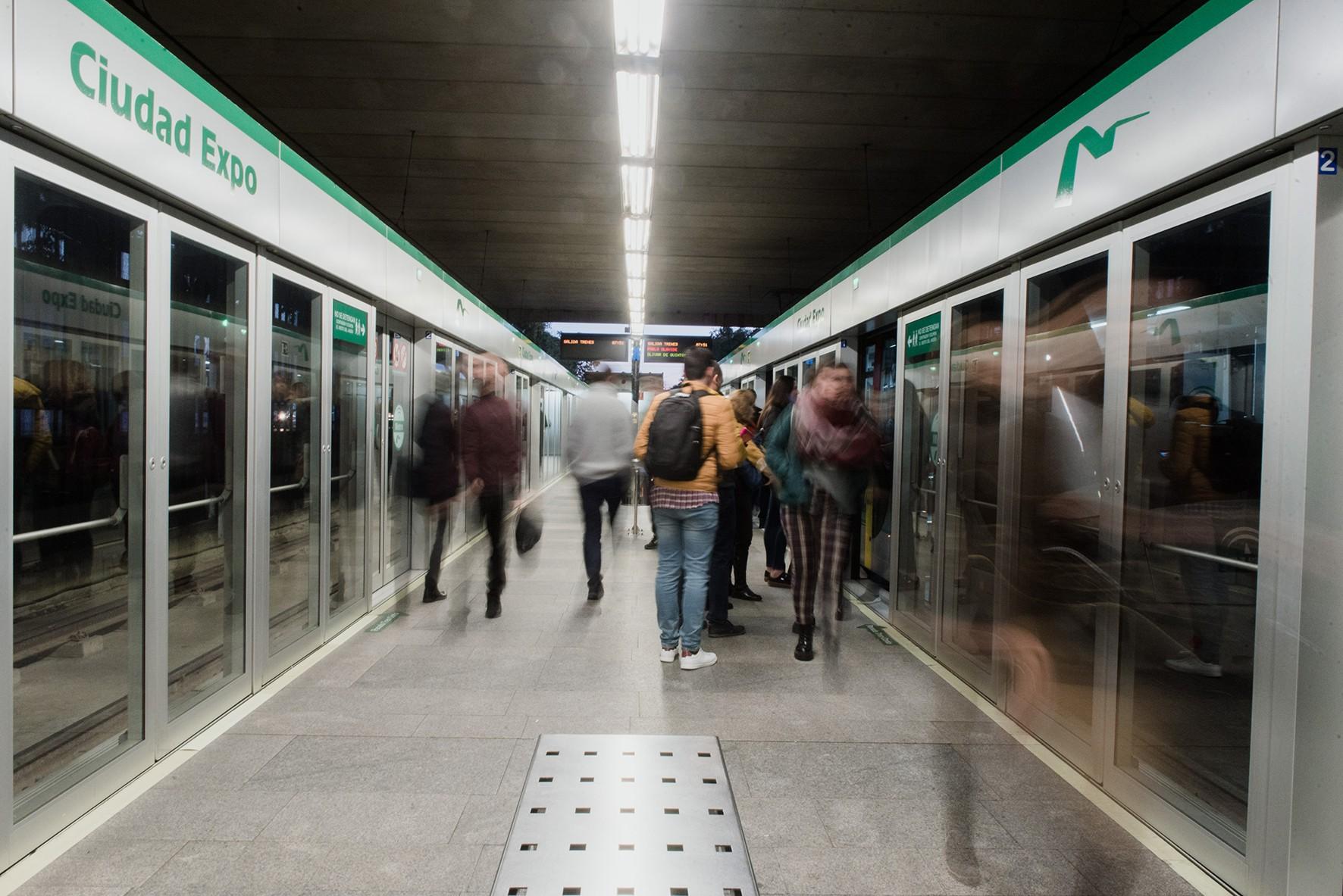 Metro de Sevilla se prepara para el Maratón con horario ampliado y refuerzo del servicio
