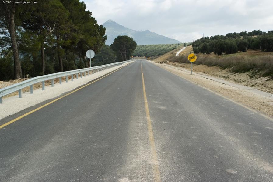 Carretera A-344 de Rute a Encinas Reales.