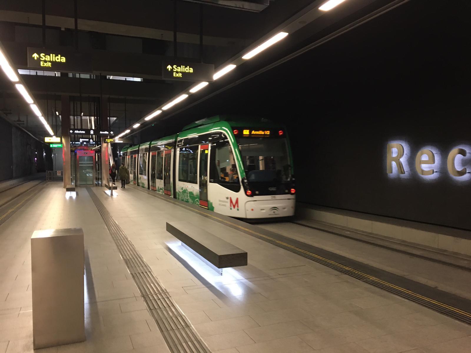 Estación de Recogidas con baja afluencia de pasajeros en Metro de Granada