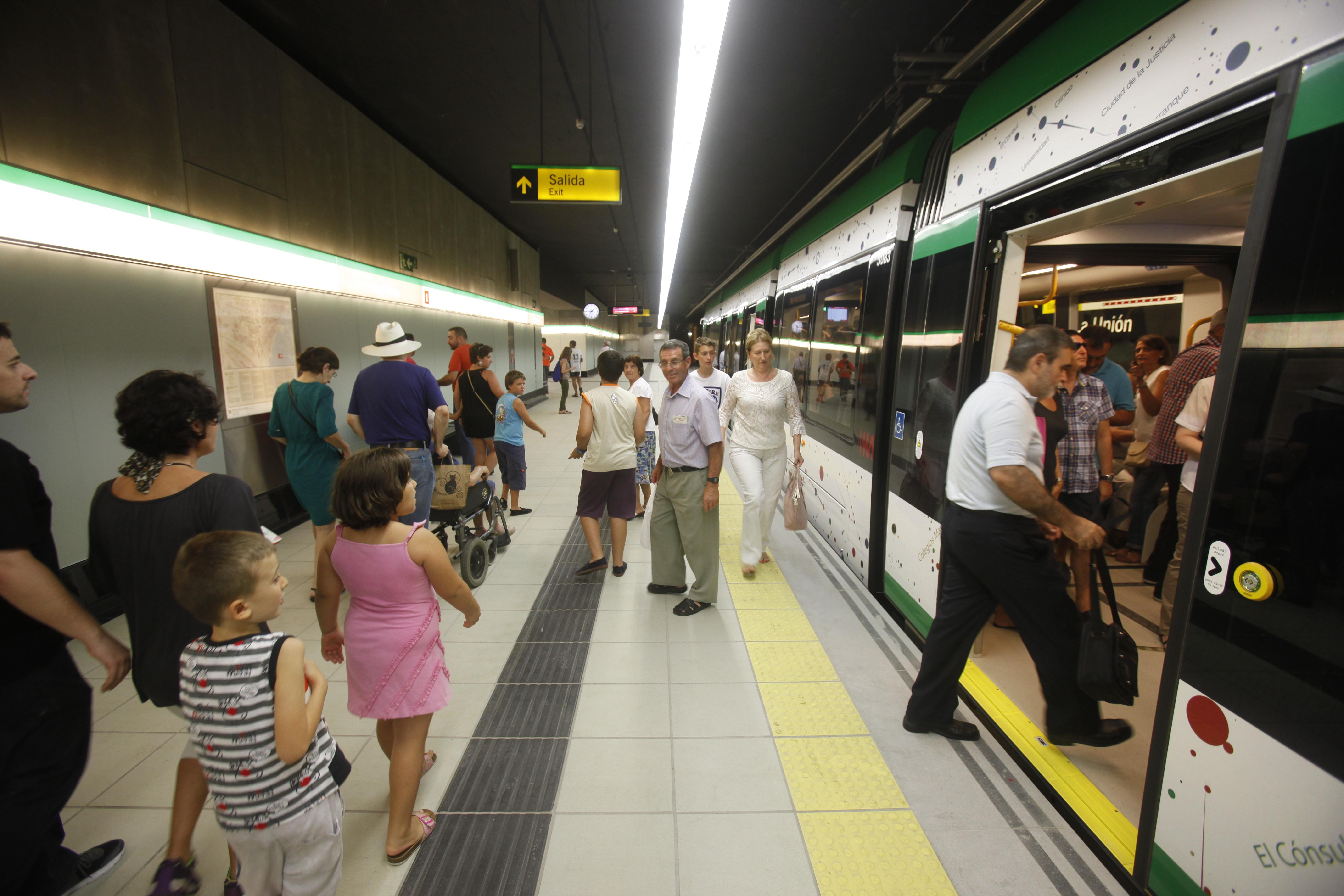 El tramo Guadalmedina - Hospital Civil consiste en la ampliaci�n de la L2 del metro, ya en servicio.