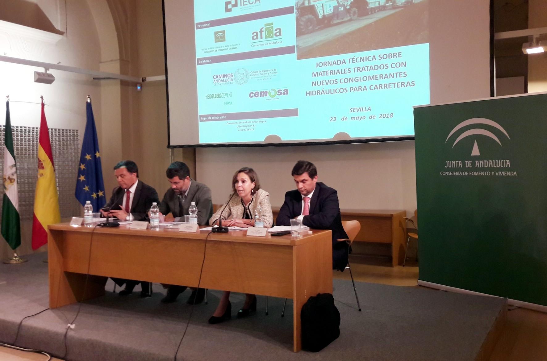 Inauguración de las Jornadas Técnicas organizadas por el IECA.