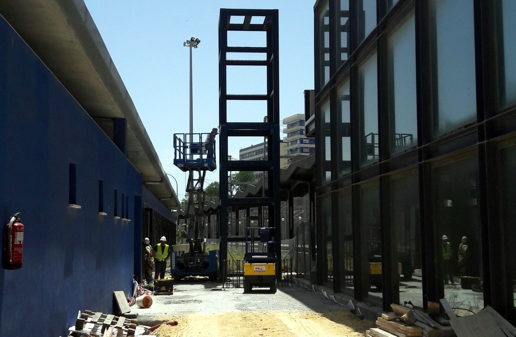 Avanzan las obras para la conexión de la estación intermodal de autobuses con la de ferrocarril de Cádiz