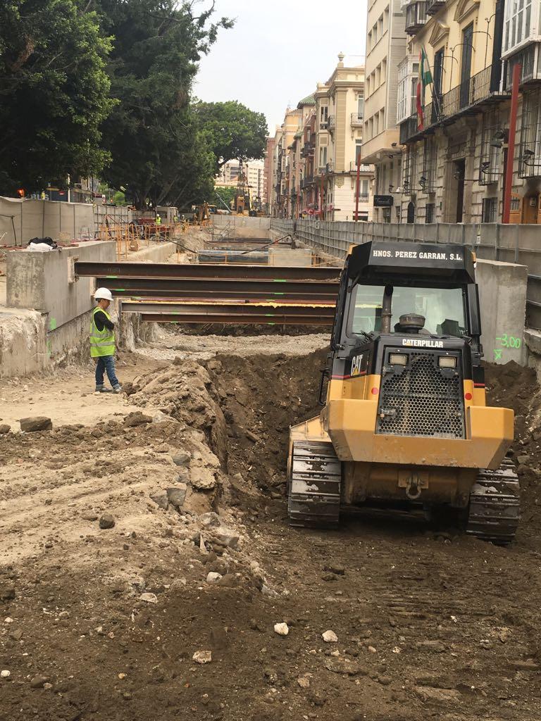 Imagen del avance de las obras en el tramo de La Alameda Principal.