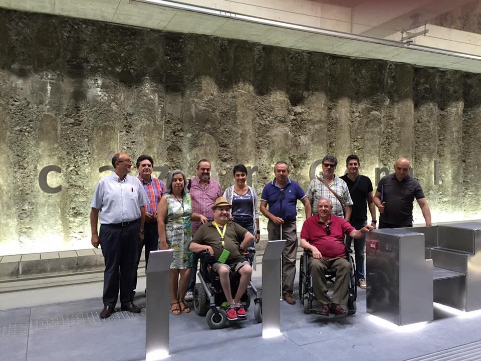 La Comisi�n Municipal de Accesibilidad del Ayuntamiento de Granada visita las estaciones y paradas de metro