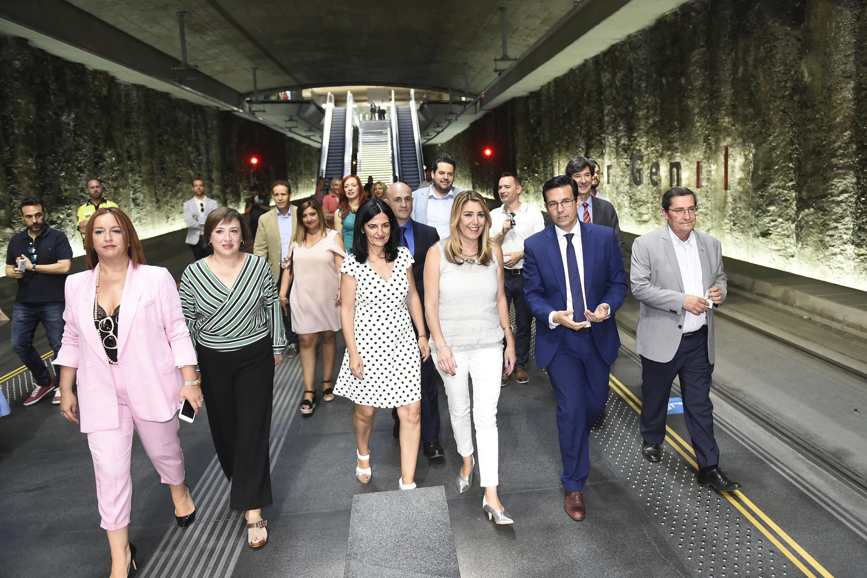 Visita de Susana Díaz a la estación de Alcázar Genil