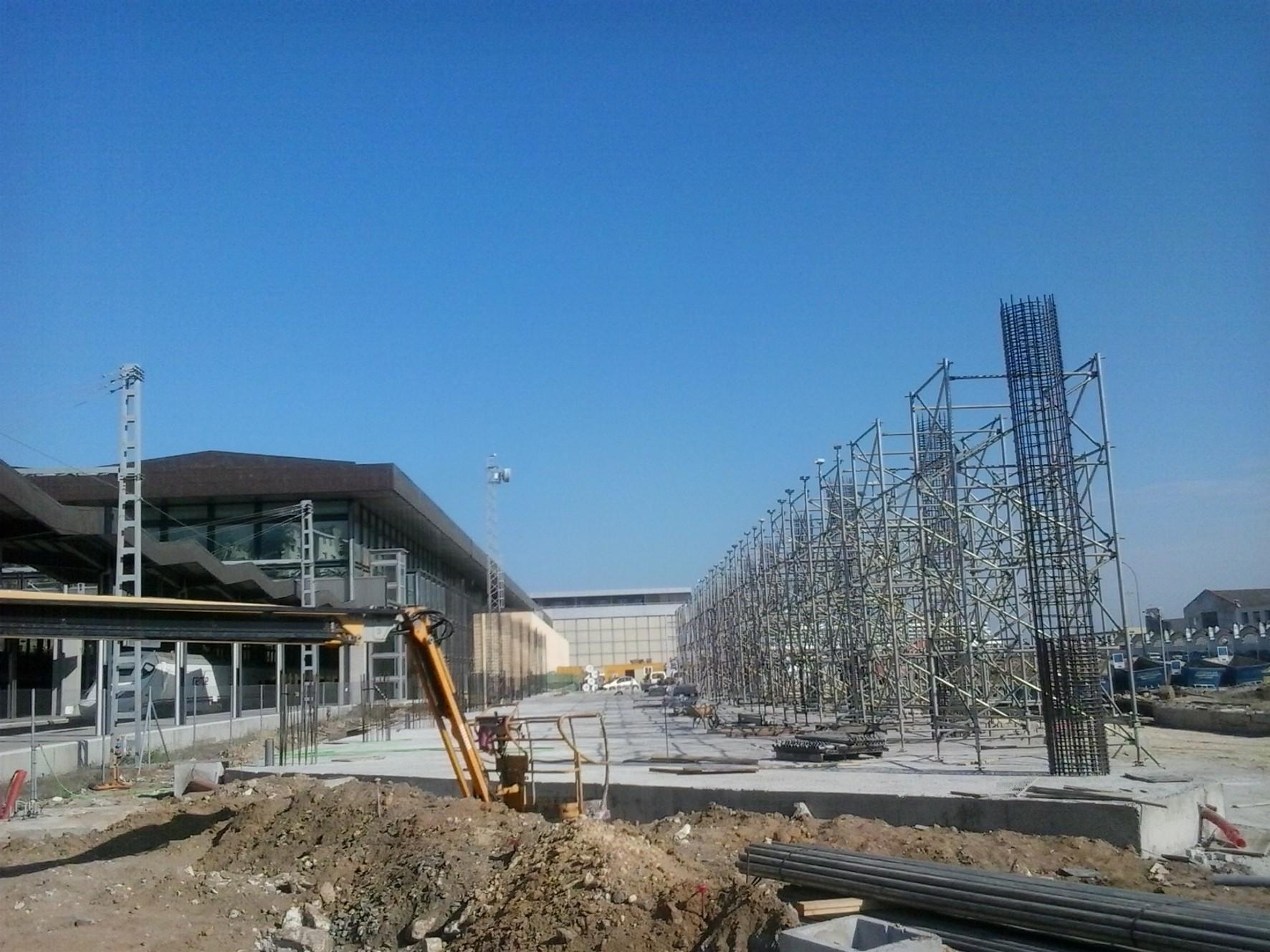 Finalizan los trabajos de cimentaci�n de la nueva estaci�n intermodal de autobuses de C�diz