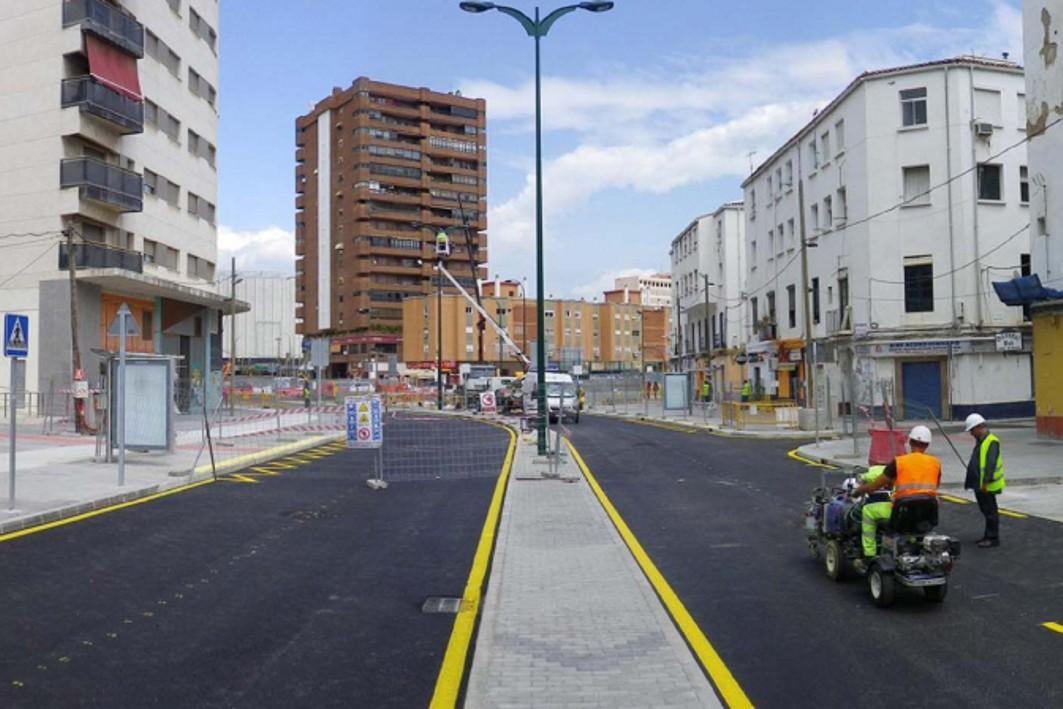 Obras del metro en Callejones del Perchel.