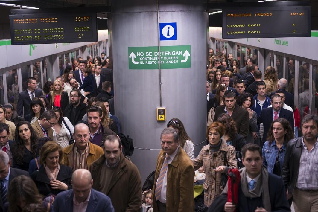 La deuda del Ayuntamiento de Sevilla con la Junta por la l�nea 1 del metro de Sevilla asciende a 41,68 millones de euros