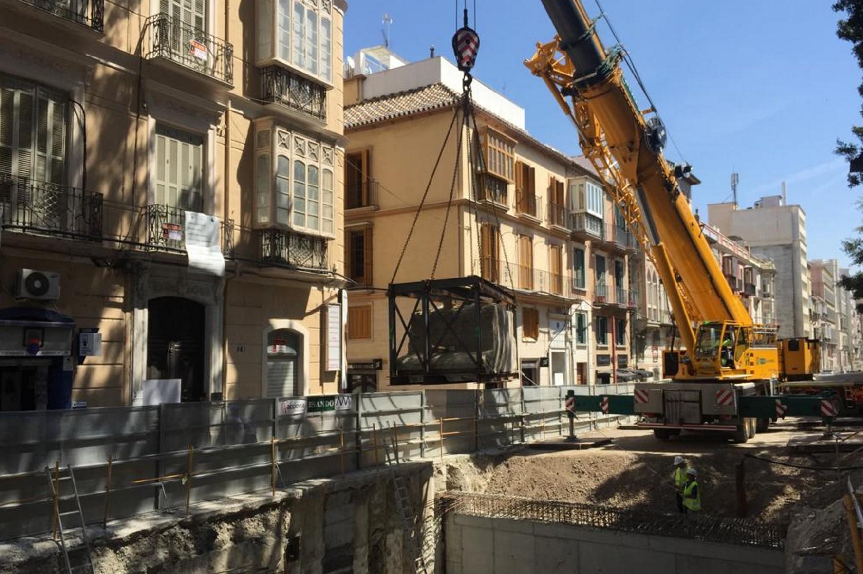 Trabajos de restitución del muro oeste del Fuerte de San Lorenzo.