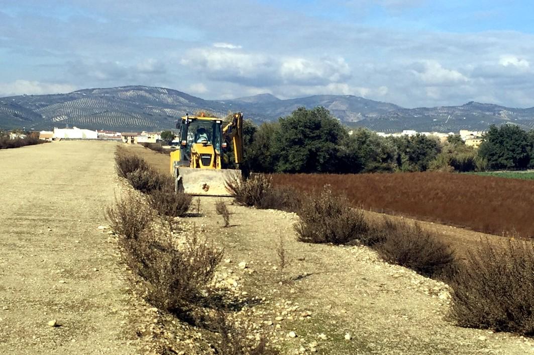 La Junta reanuda en Huétor Tájar las obras del nuevo puente sobre el río Genil con un presupuesto cercano a los 8 millones de euros