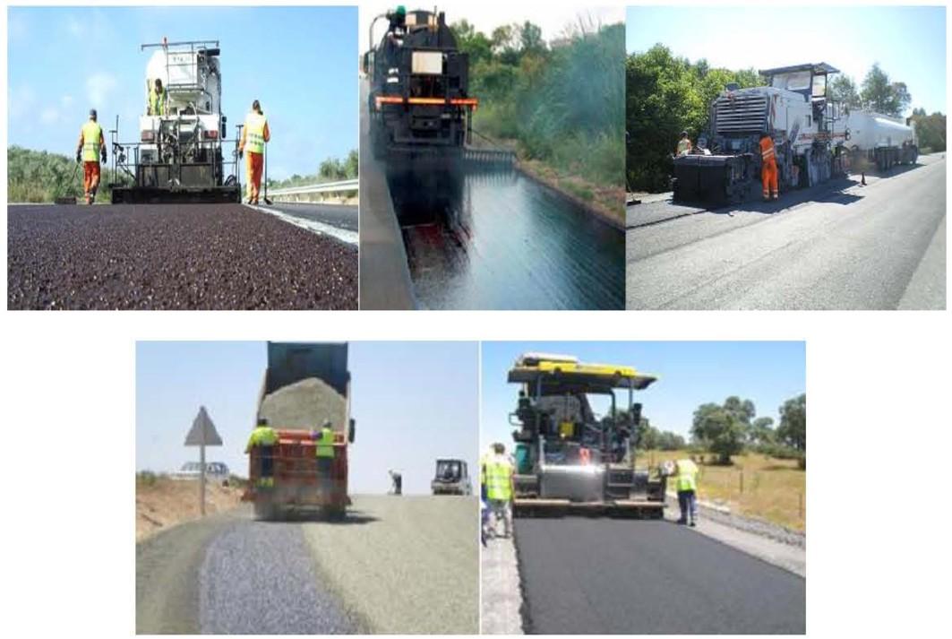 Técnicas de construcción sostenible de carreteras.