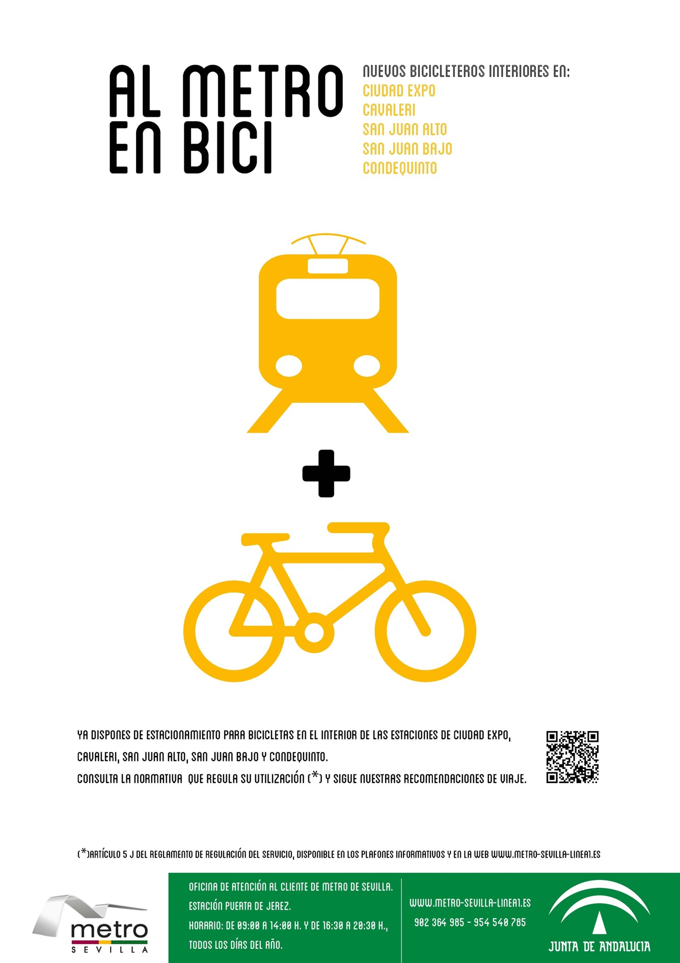 Cartel sensibilizador de la campaña AL METRO EN BICI.