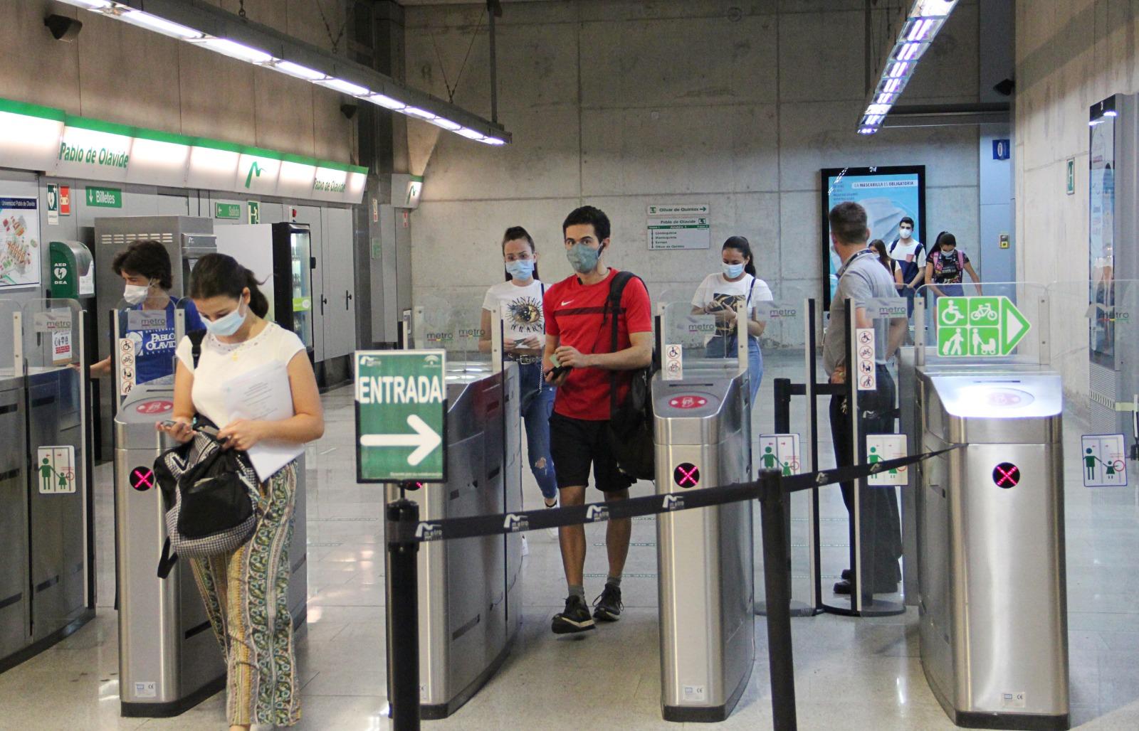 El Metro de Sevilla registra en marzo el primer alza de viajeros desde el inicio de la pandemia
