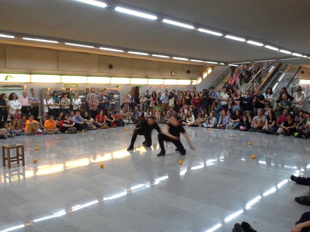 La Estación de Puerta Jerez ya ha acogido diferentes espectáculos culturales.