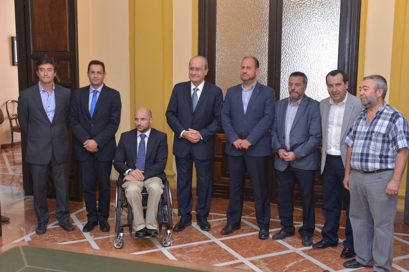 El viceconsejero preside la reunión del Metro de Málaga.