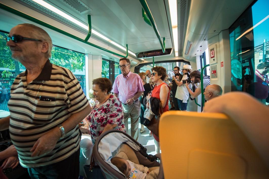 Los viajeros del metro han alcanzado la cifra del medio millón.