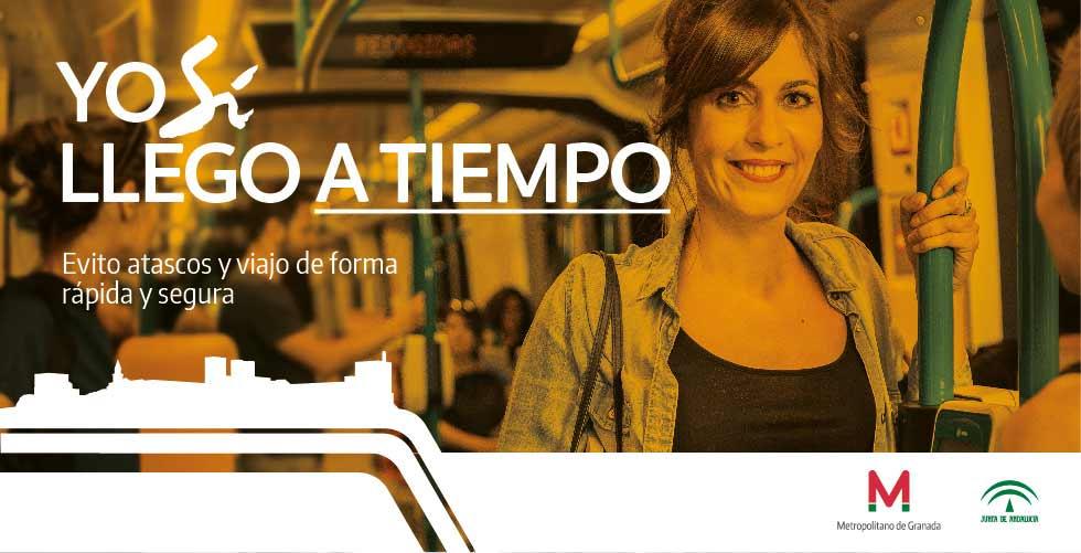 Campaña de lanzamiento del metro de Granada.