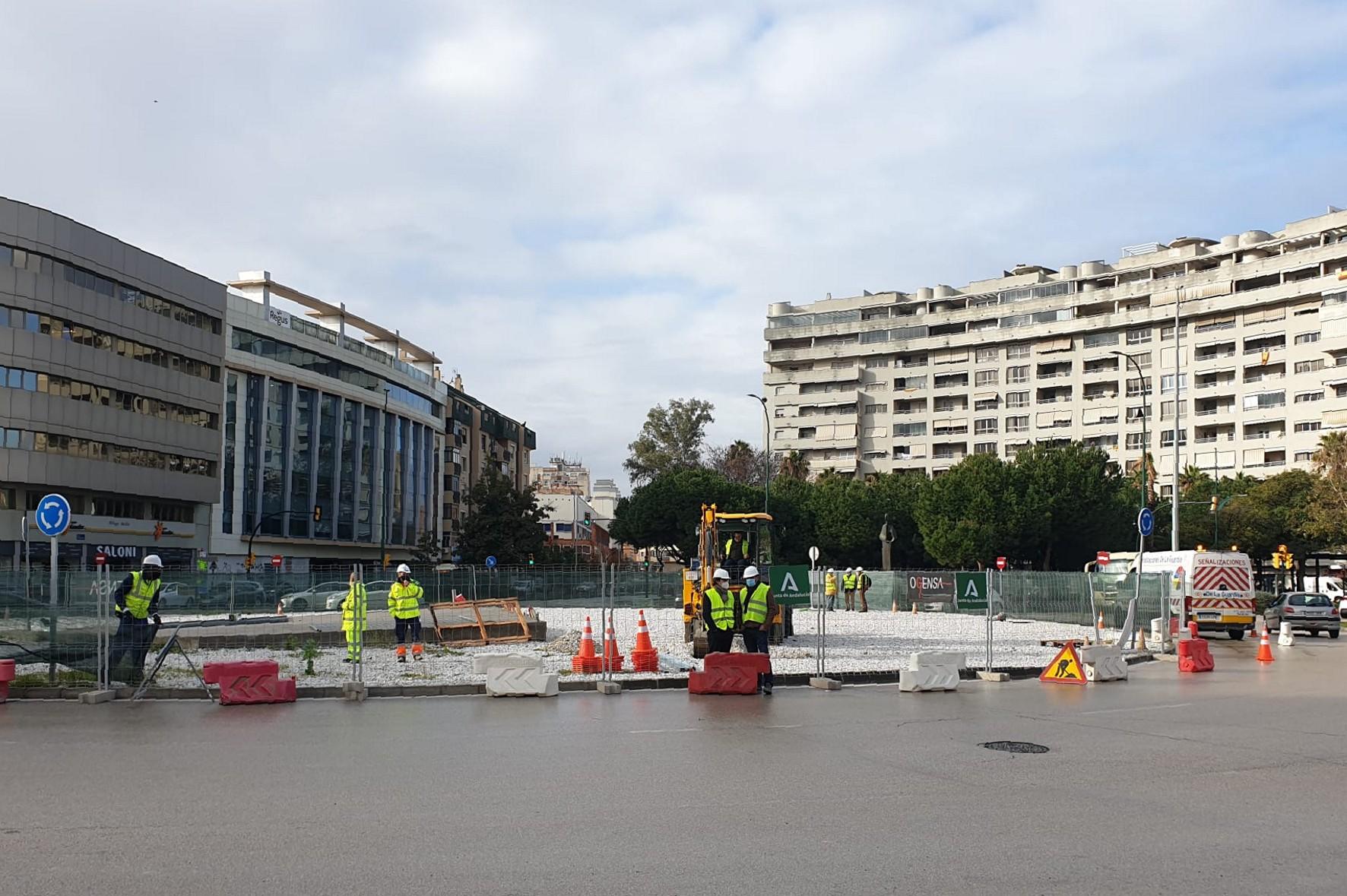 La Junta inicia las obras de reurbanización del entorno de la Plaza de la Solidaridad de Málaga