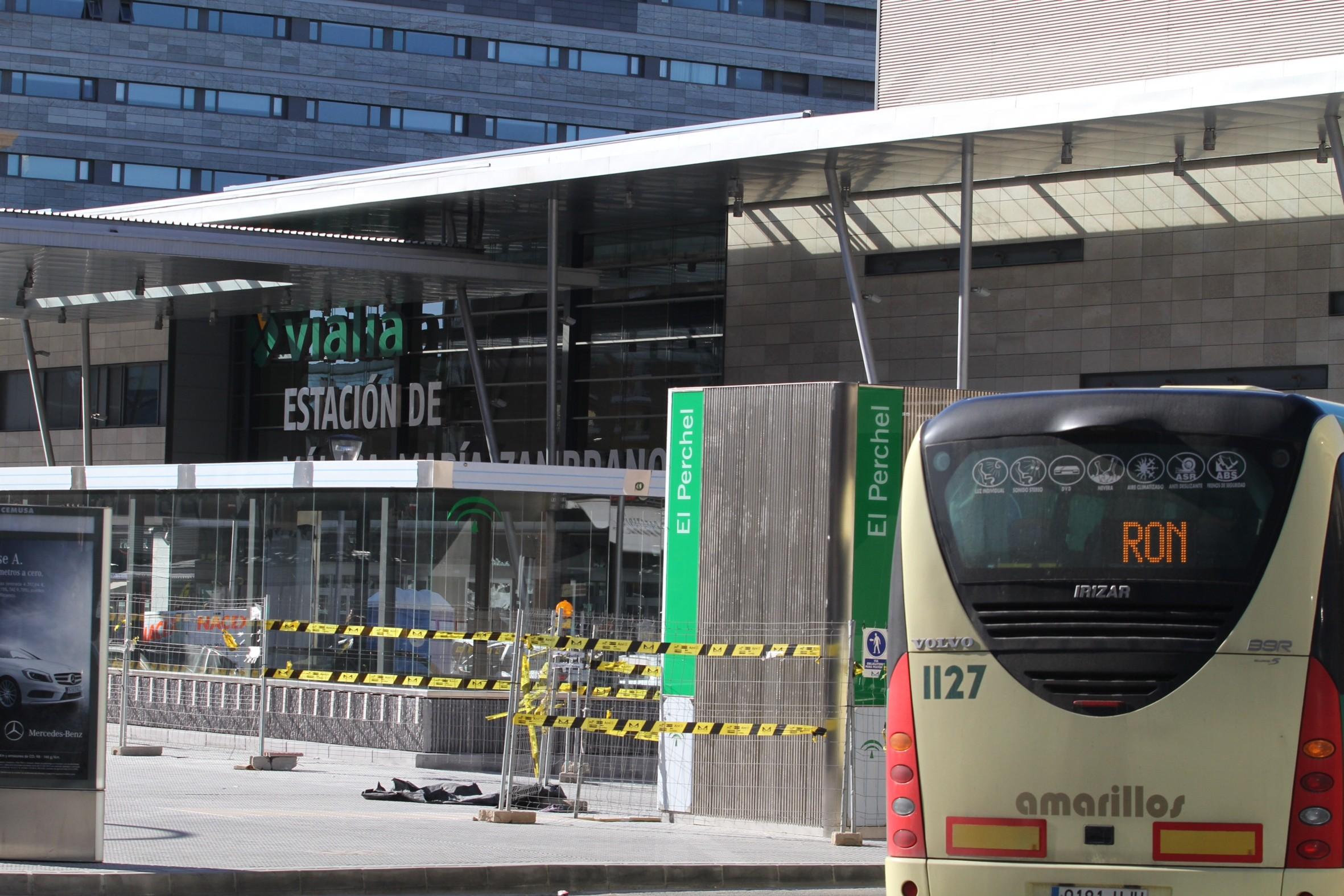 Zona del intercambiador de El Perchel, junto a la Estación de FFCC Málaga-María Zambrano