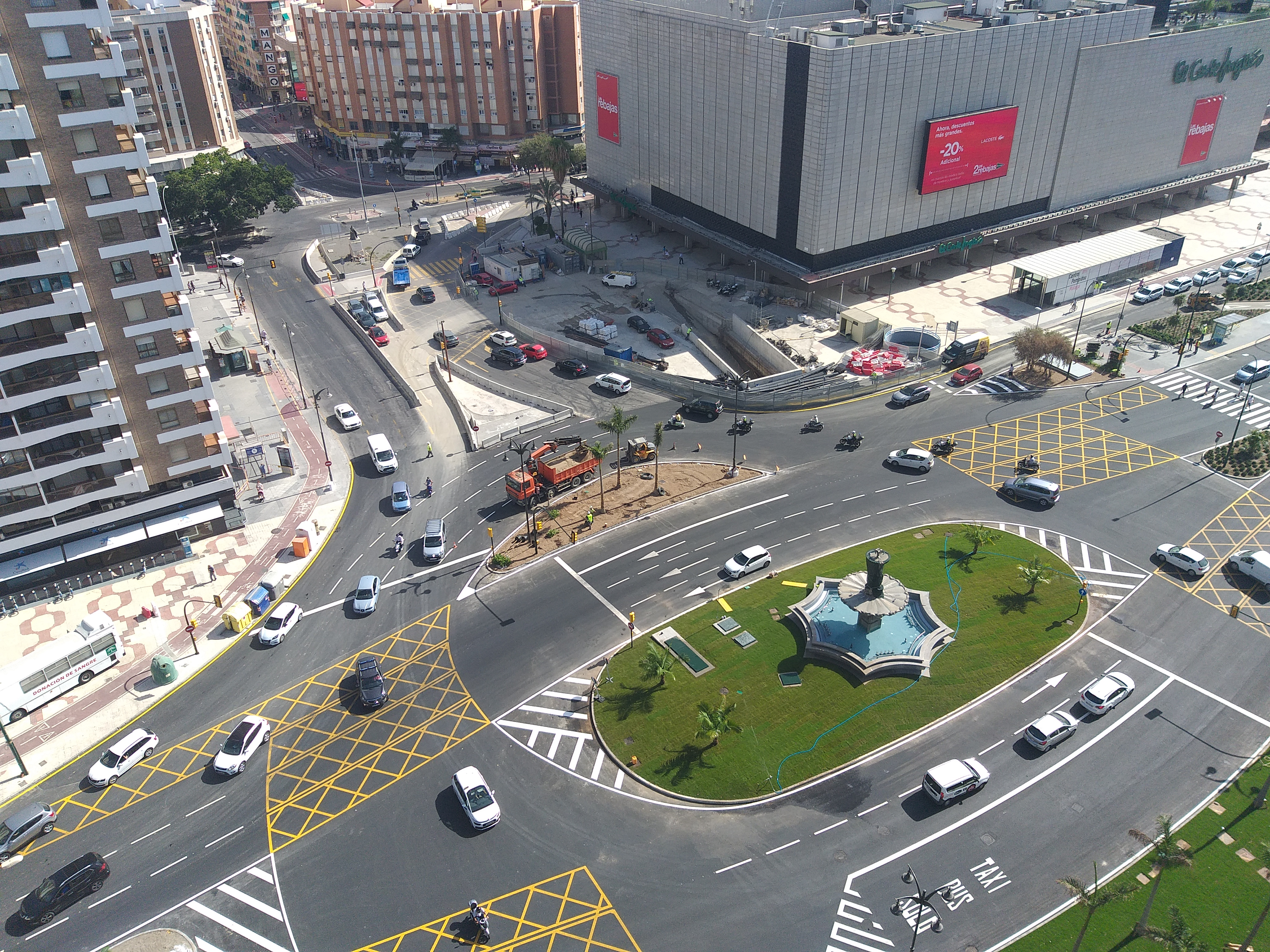 Vista aérea Metro de Málaga
