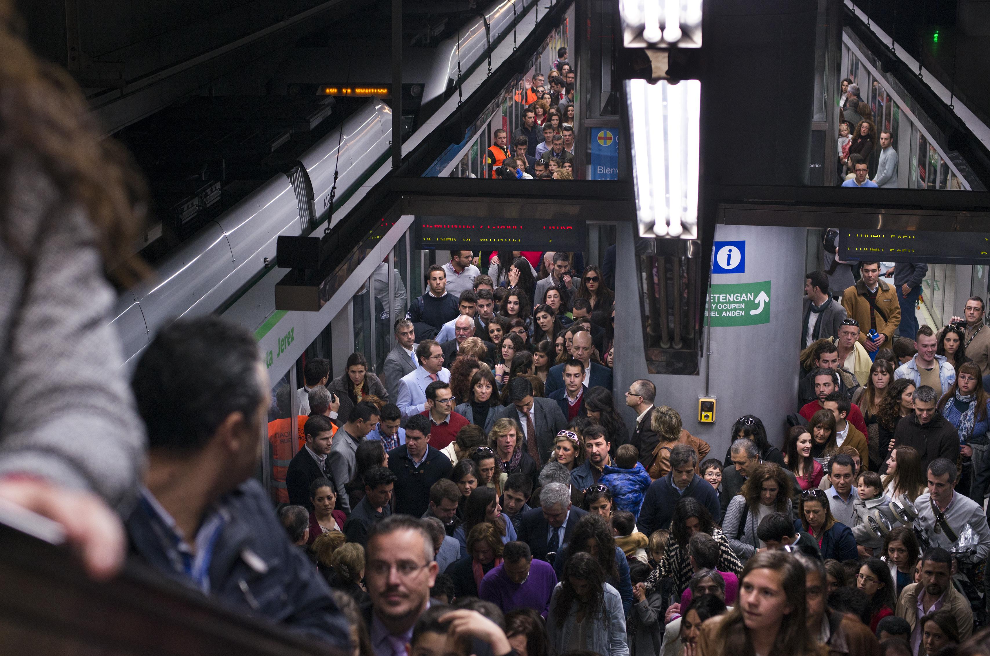 Puerta Jerez vuelver a ser un año más la estación del Metro de Sevilla con mayor alfluencia.