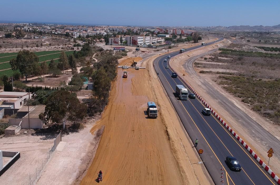 Obras de duplicación de la carretera de Vera a Garrucha.
