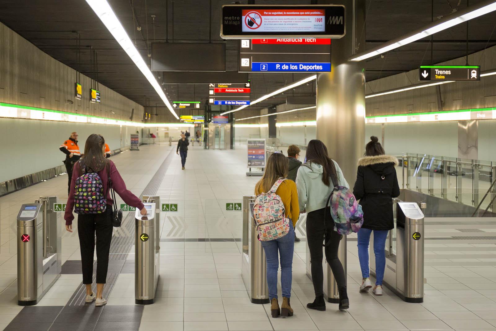 El Metro de Málaga cosechó un incremento superior al 13% en el tercer trimestre.