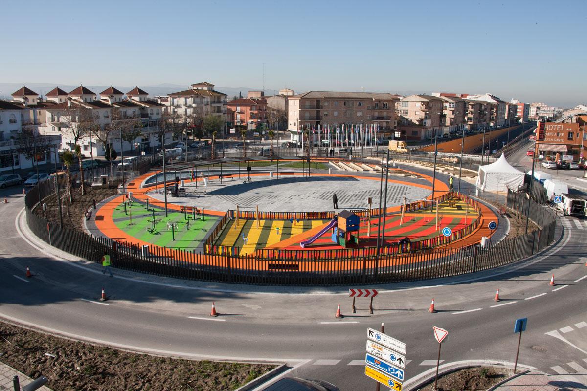 Vista aérea de la Plaza