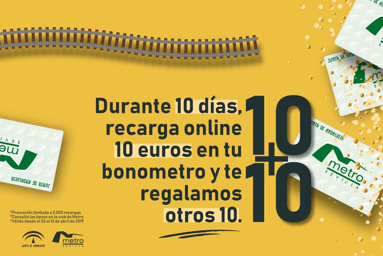 Promoción del metro de Sevilla en su 10 Aniversario.