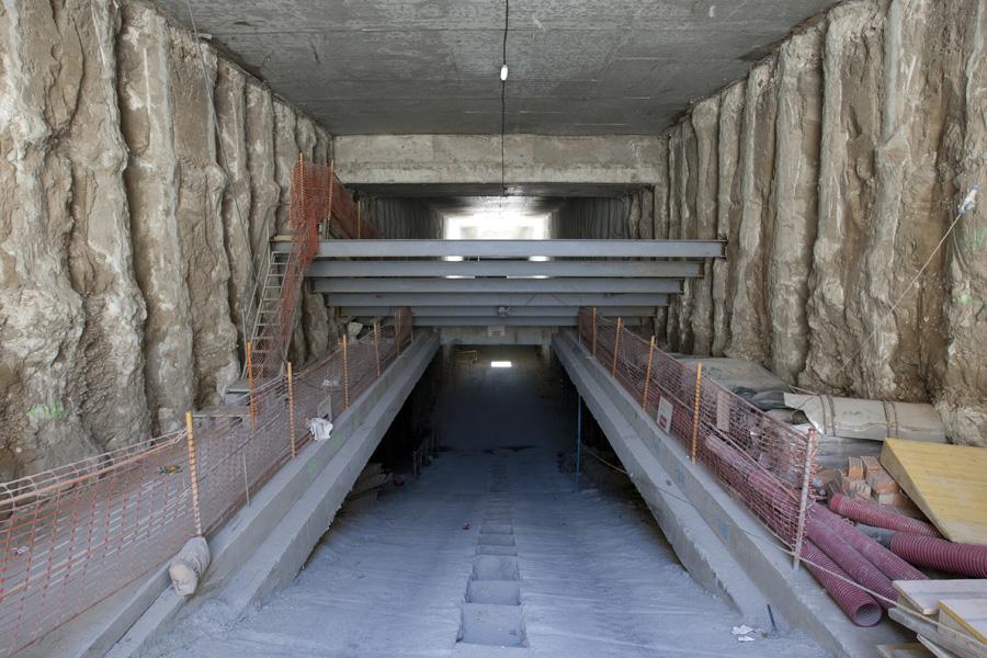 Obras del túnel del Metro de Granada.