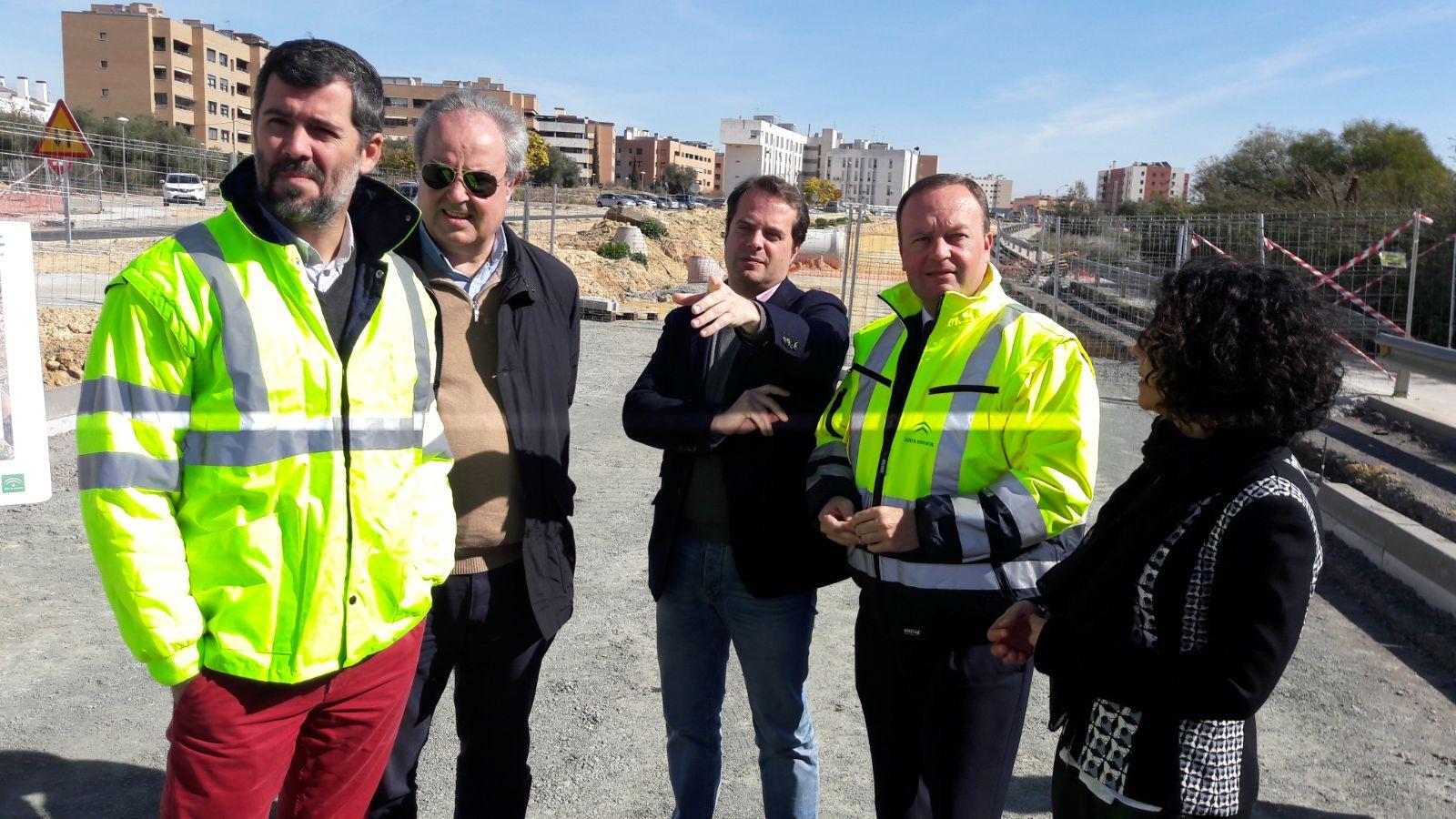 El director general de Infraestructuras ha visitado las obras en Mairena.