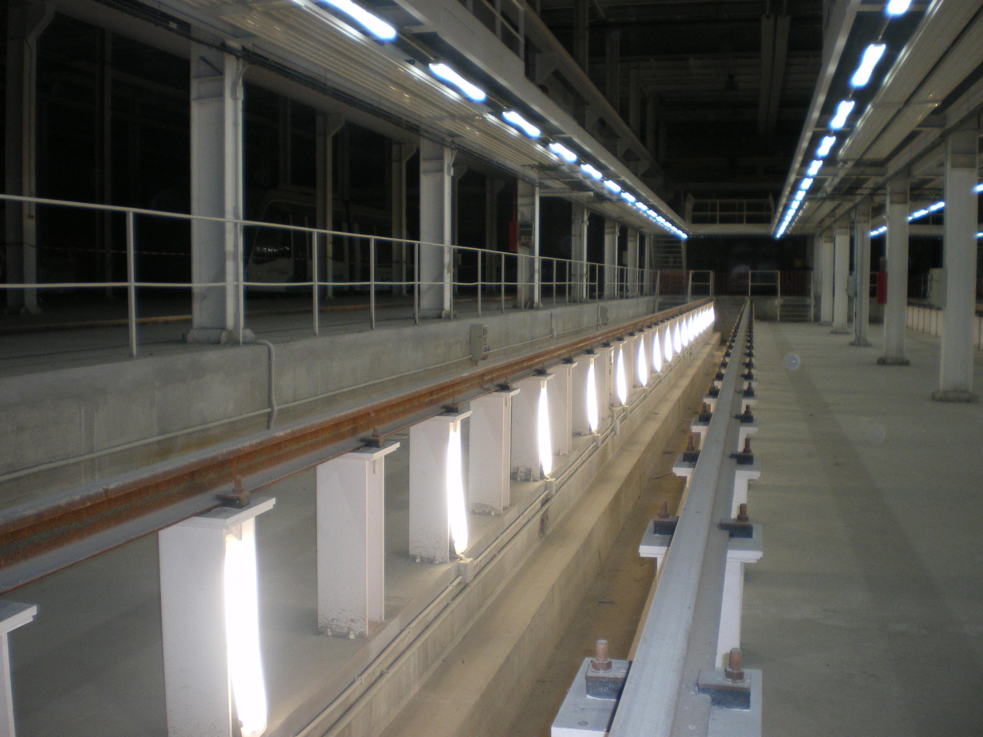 Talleres y Cocheras del Metro de Granada es la principal instalación para las tareas de conservación del ferrocarril metropolitano.