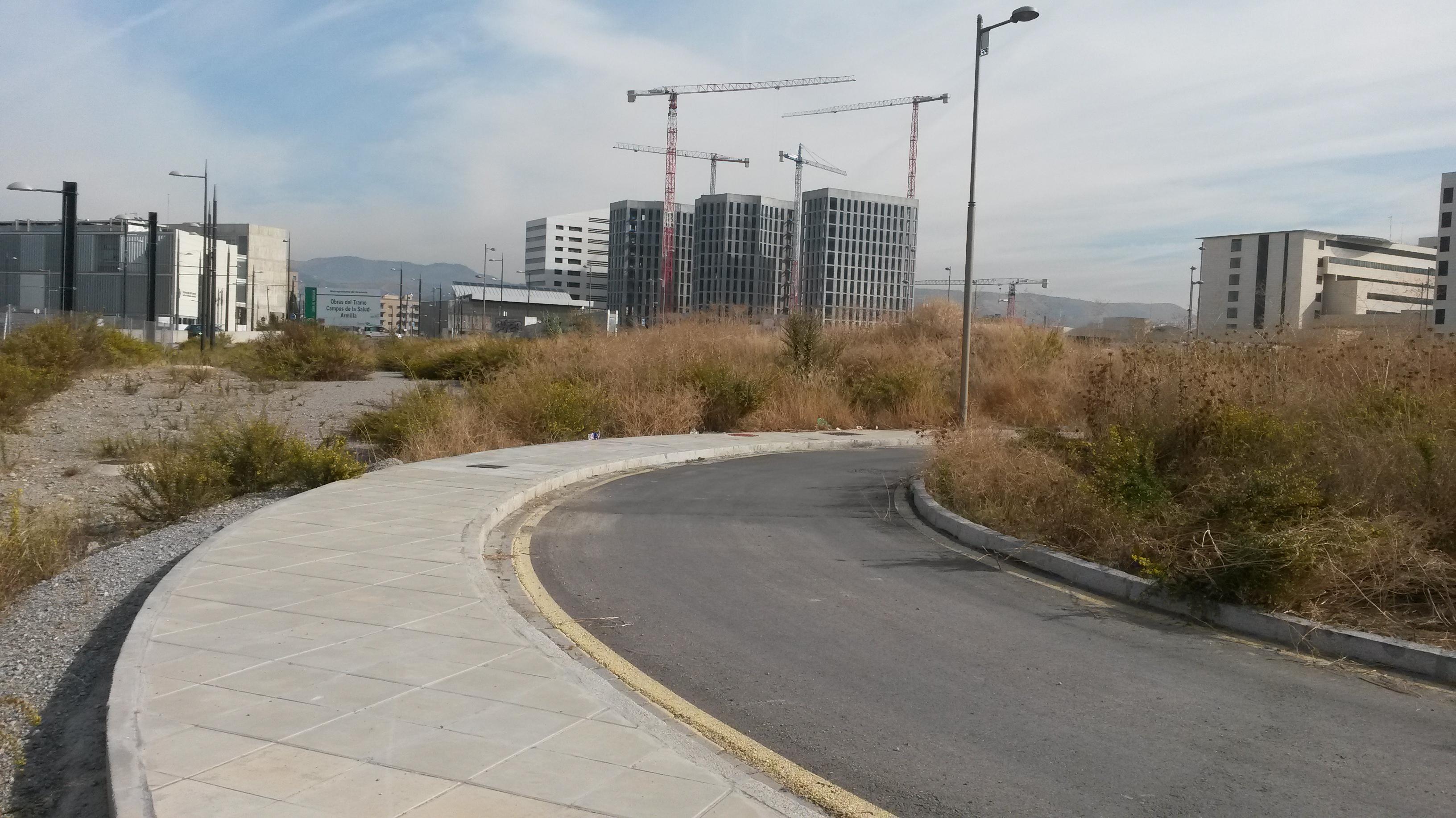 Solar del Parque Tecnológico de Ciencias de la Salud que albergará la subestación.