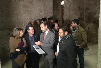 El Consejero hoy en la visita a las obras de Rehabilitación del Palacio Municipal de Jaén