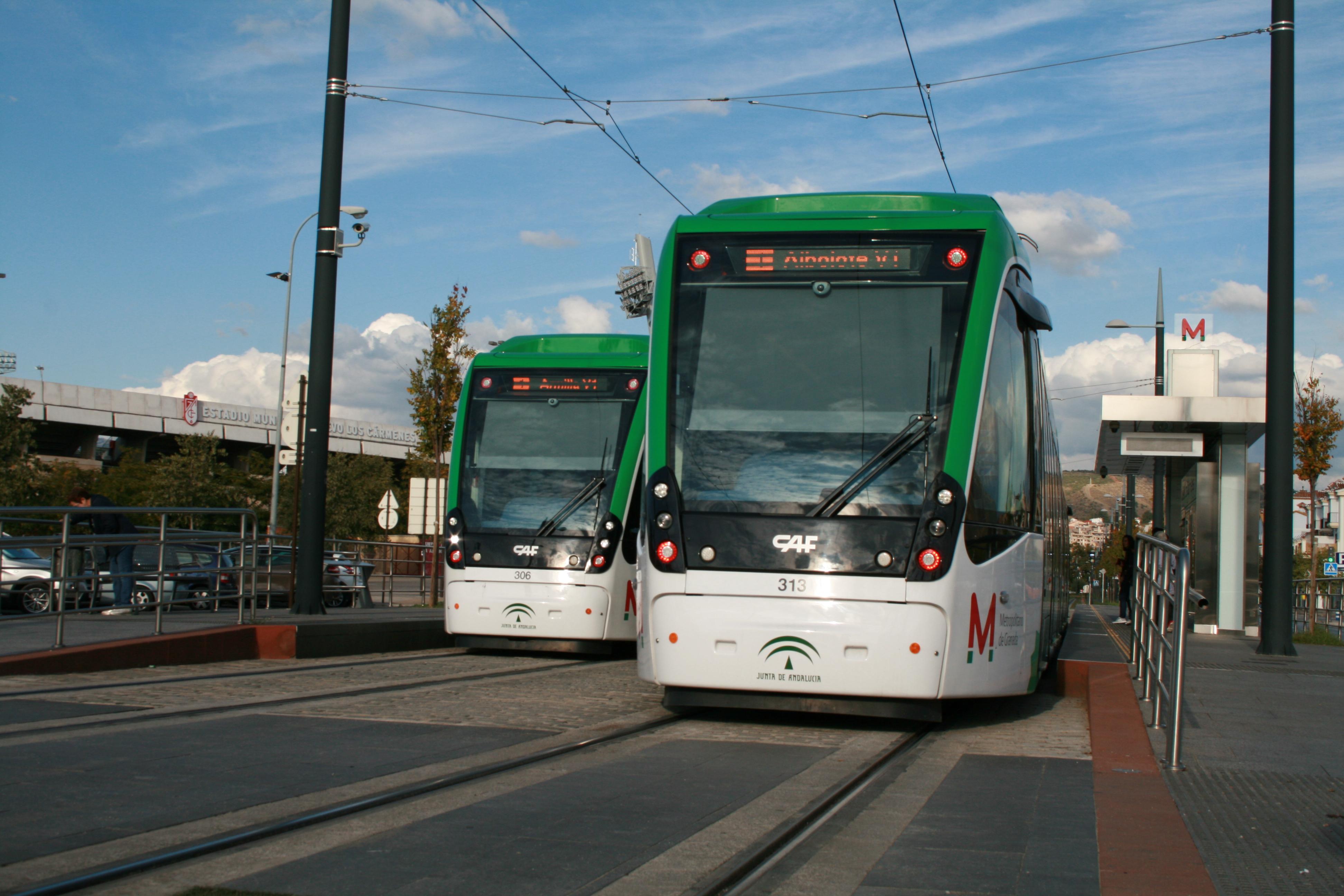 El metro de Granada mejorara la velocidad comercial en el trayecto.
