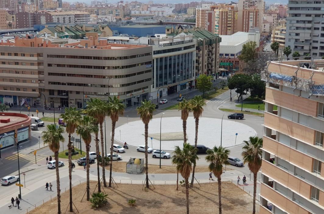 La Junta adjudica por 622.556 euros la obra de  urbanización de la Plaza de la Solidaridad de Málaga