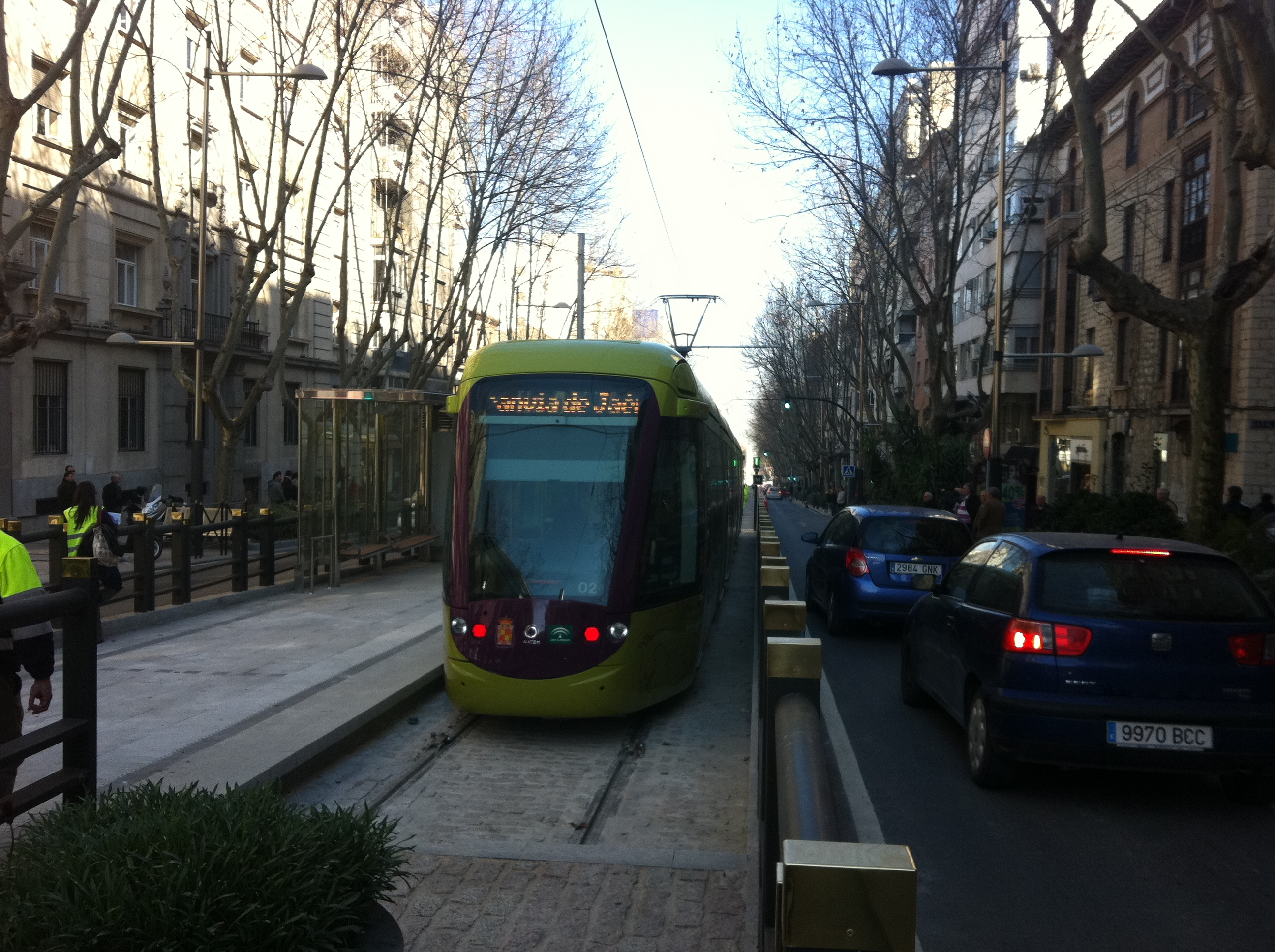 El Tranvía de Jaén estuvo en fase de pruebas en mayo de 2011.