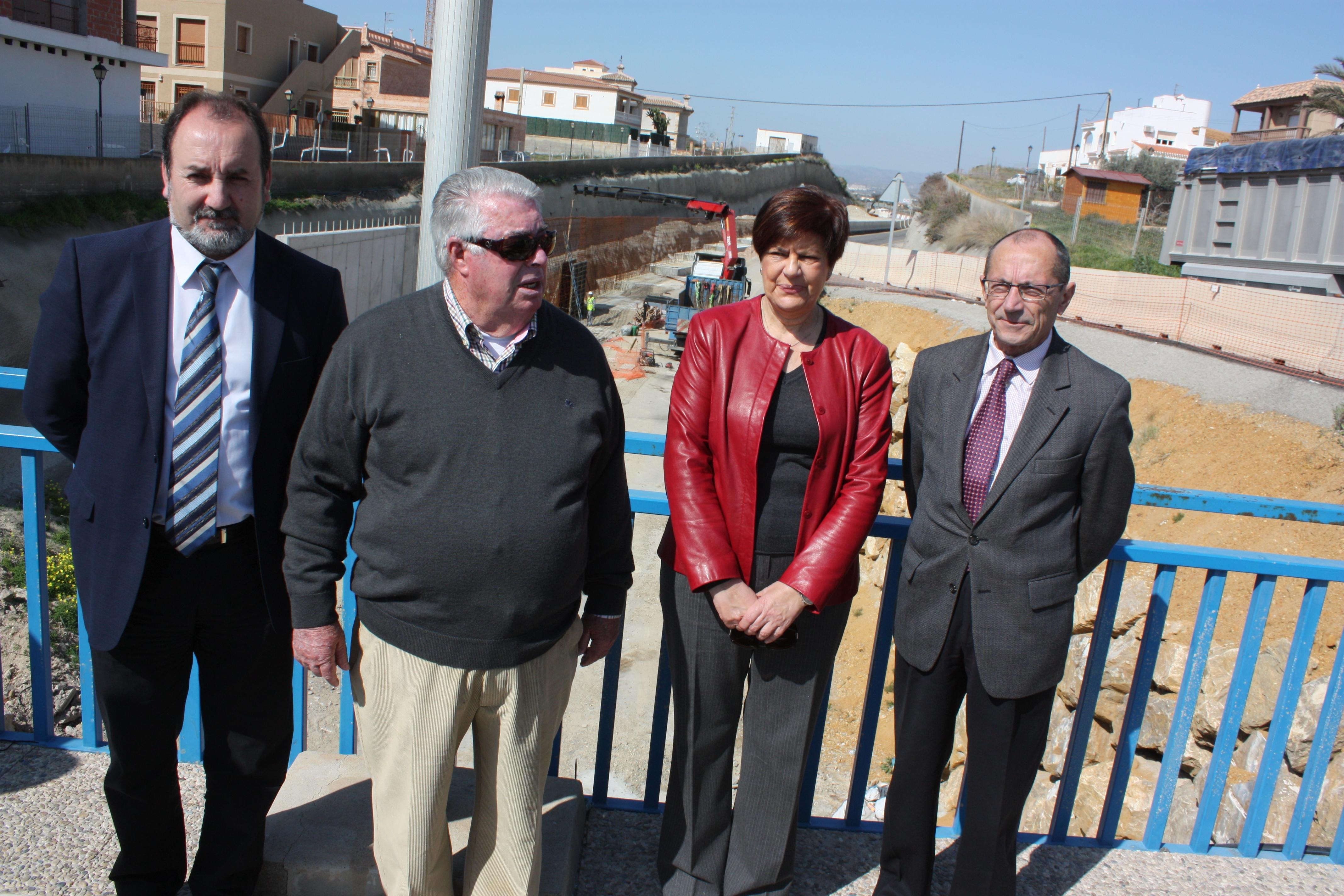 La consejera de Obras Públicas y Vivienda ha visitado hoy las obras del nuevo acceso soterrado