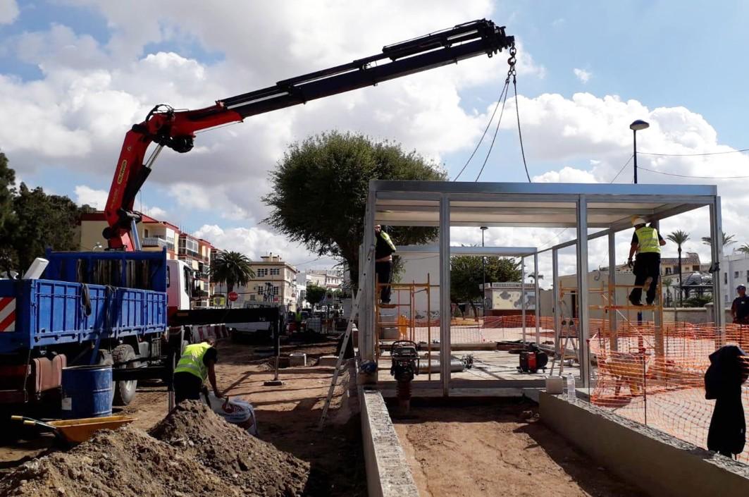 Montaje del edificio modular en Chiclana.
