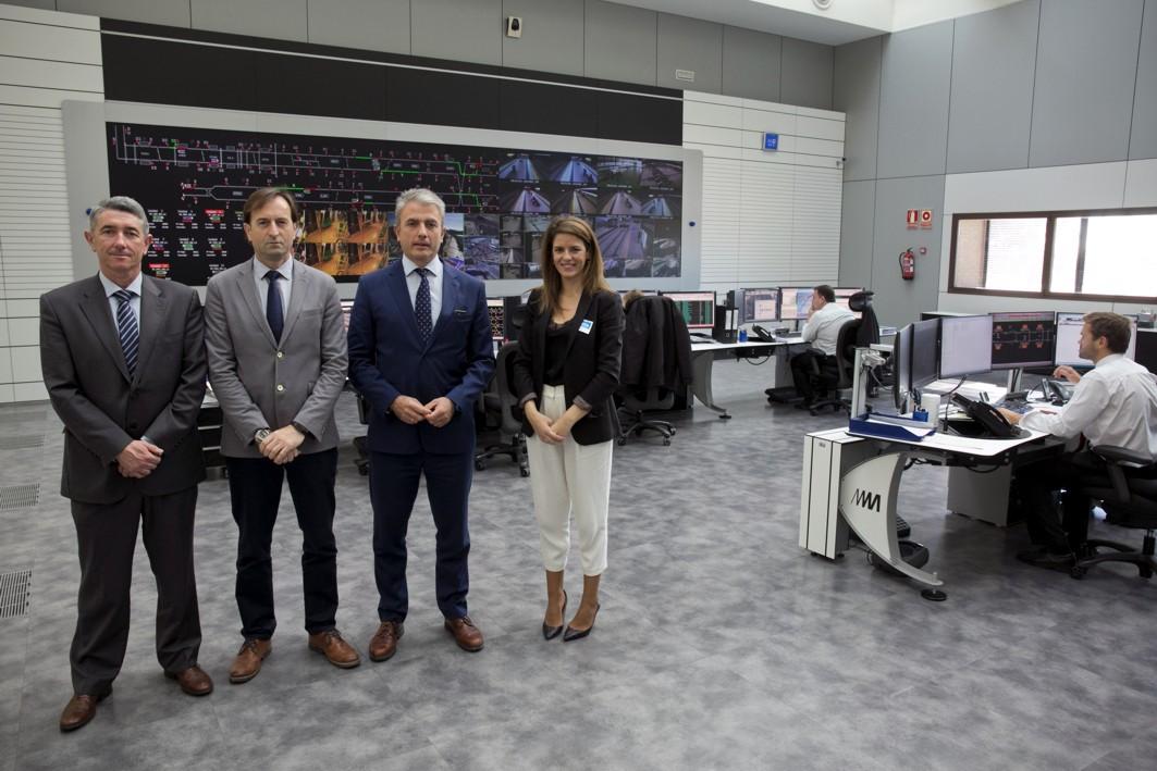 Equipos directivos de metro de Málaga y Aenor.