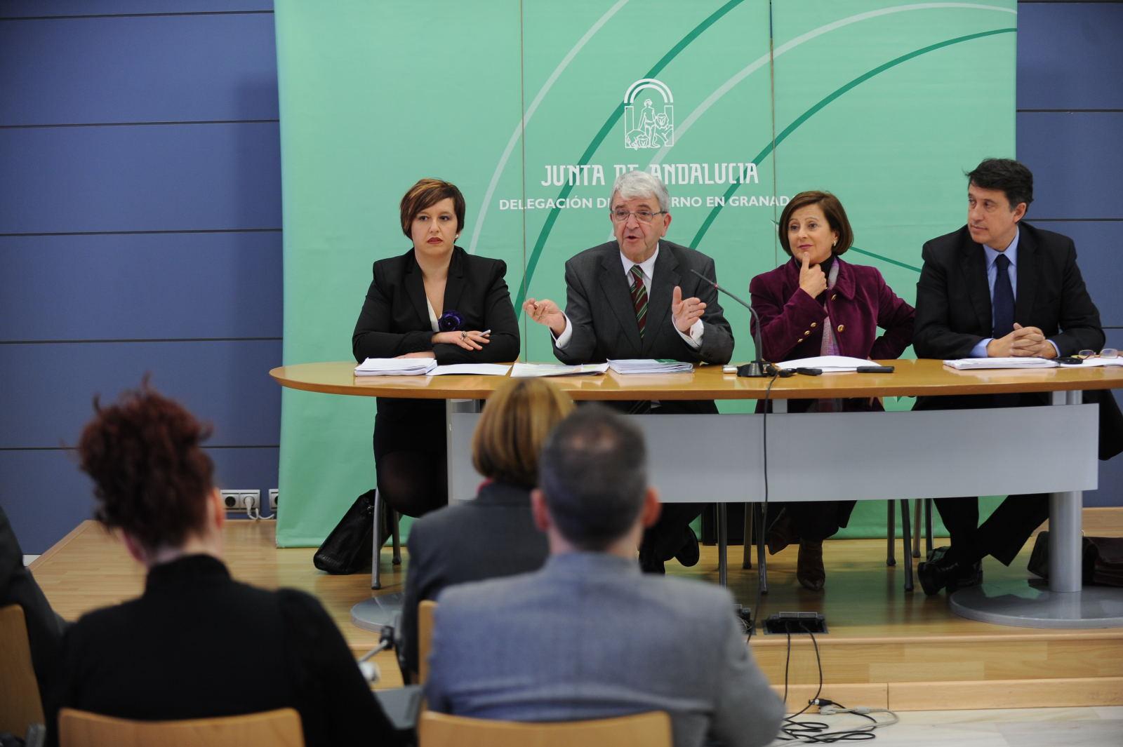 Rueda de prensa celebrada enla Delegación del Gobierno andaluz tras la reunión de la Comisión.