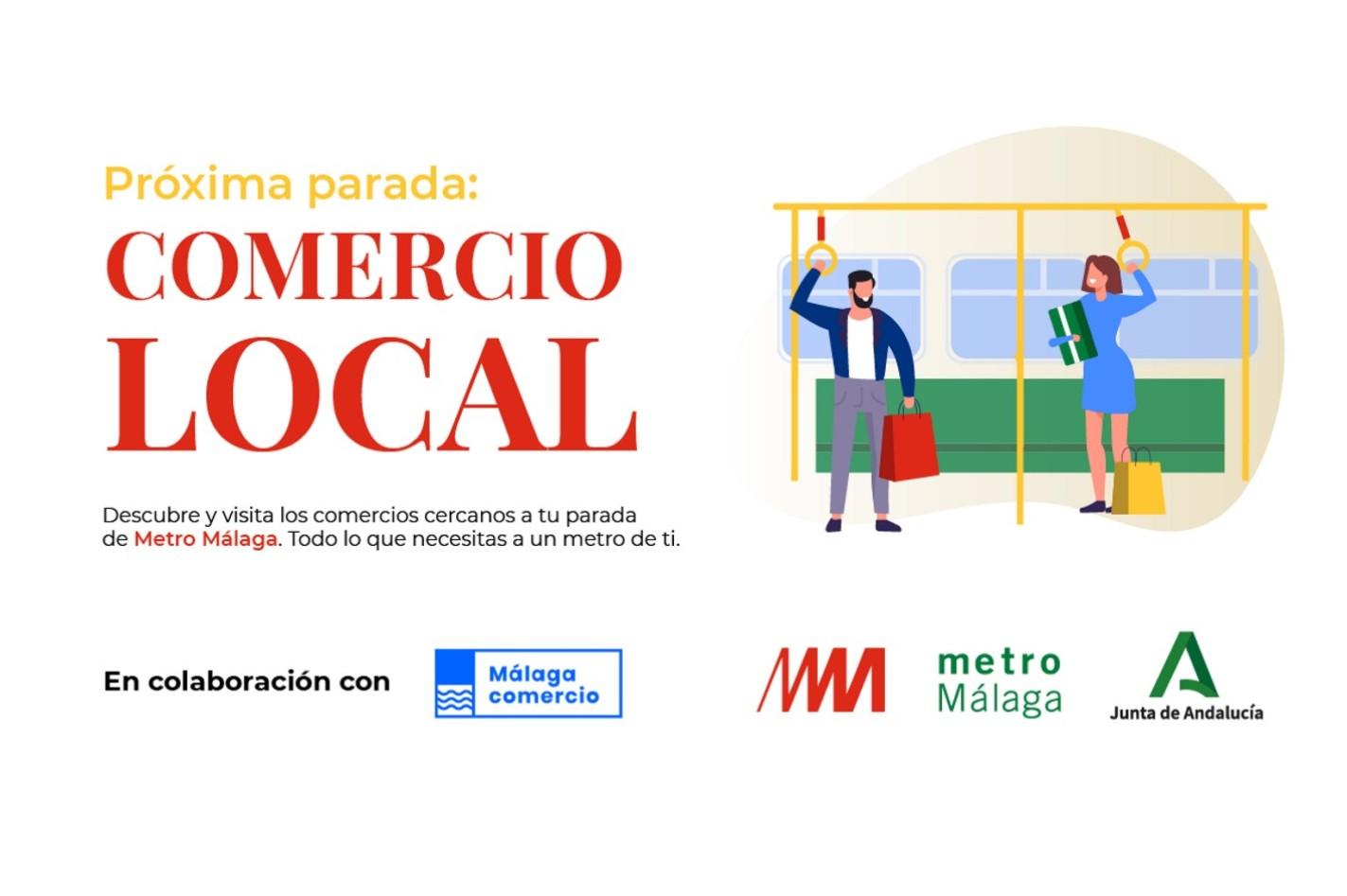 Campaña de apoyo al comercio de metro de Málaga.